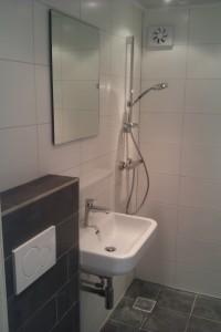 Verbouw doucheruimte met 'ons' standaard tegelwerk.