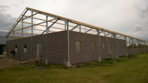 Nieuwbouw machineberging/wagenloods Rouveen