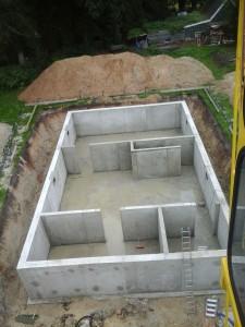 Betonkelder onderbouw vrijstaande woning Exel Lemele